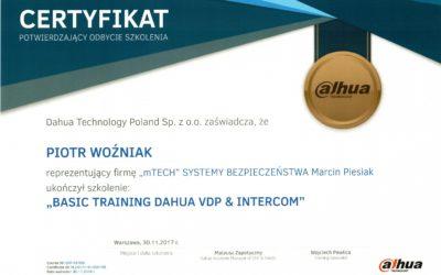 """BASIC TRAINING DAHUA VDP & INTERCOM"" – PIOTR WOŹNIAK"